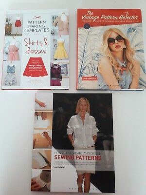 Sewing Book Bundle Job Lot use Sewing pattern templates vintage pattern selector
