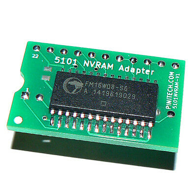 5101 NVRAM for Pinball / Arcade - No Batteries! - Bally, Stern, Williams