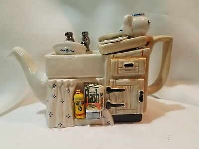 Cardew Miniature Teapot  One Cup Washing Machine Flash and Fairy