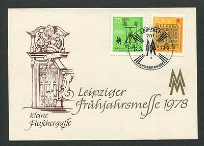 DDR MK 1978 LEIPZIGER MESSE MAXIMUMKARTE CARTE MAXIMUM CARD MC CM d8610