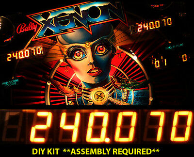 UNO7 Bally/Stern Pinball **DIY Display Kit** - 4x 7-digit, 1x 6-digit, AMBER LED