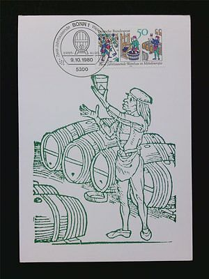 BRD MK 1980 WEINBAU WINE GRAPE WEIN VINE MAXIMUMKARTE MAXIMUM CARD MC CM c5897