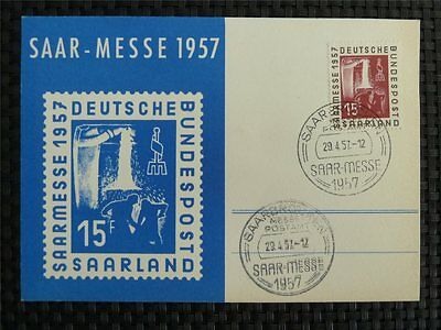 SAAR MK 1957 400 SAARMESSE MAXIMUMKARTE CARTE MAXIMUM CARD MC CM c1627