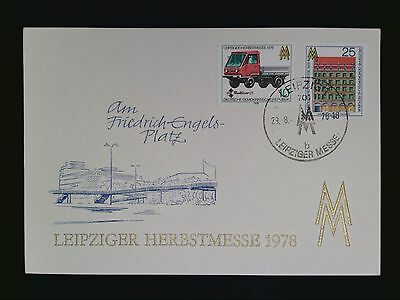 DDR MK 1978 LEIPZIGER MESSE MAXIMUMKARTE CARTE MAXIMUM CARD MC CM c8081