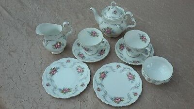 Service A The Porcelaine Anglaise Royal Albert Modele Tranqulity 7 Pieces