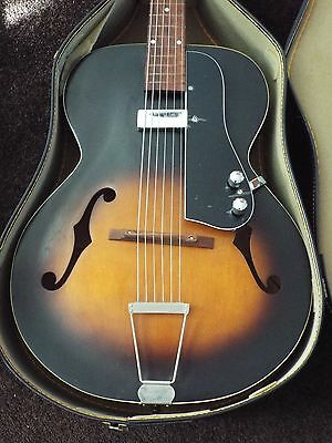 Harmony Archtop Guitar Pickguard Only. W/Pickup,Controls,Jack,Hardware Fits Many