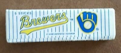 MILWAUKEE BREWERS 1990's Vintage MLB Baseball Chewing Gum unopened 5 stick pack