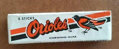 BALTIMORE ORIOLES 1990's Vintage MLB Baseball Chewing Gum unopened 5 stick pack