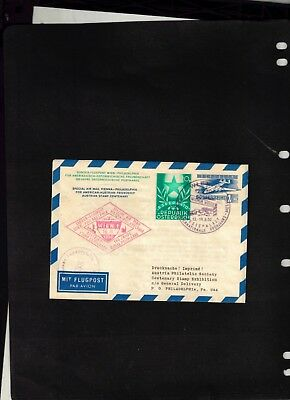 1950 Special Air Mail Letter Sheet issued for American-Austria Friendship