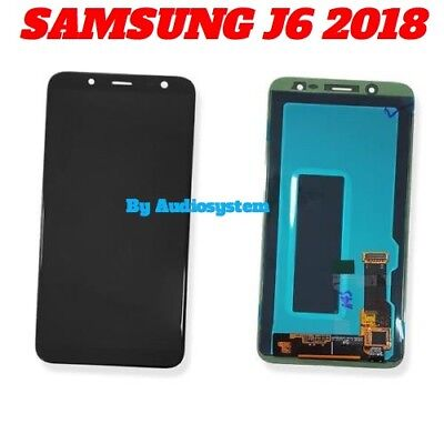 Display Lcd Touch Screen+ Biadesivo Samsung Galaxy J6 2018 Sm-J600F Nero Vetro