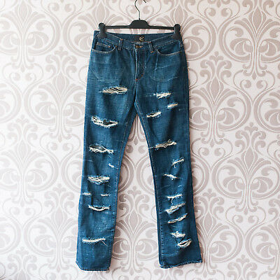 Just Cavalli ITTIERRE Distressed Ripped Destroyed Women jeans 31 in waist  Italy 8183fbe7a