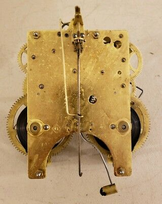 Antique Working GILBERT Brass Mechanical Time & Strike Mantel Clock Movement