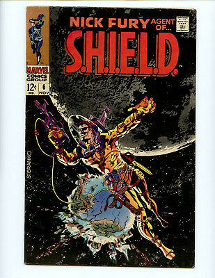 Nick Fury Agent of SHIELD 6  Classic Steranko cover natch...