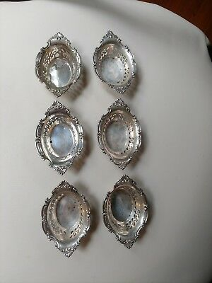 6 Gorham Sterling Silver Nut or Bon Bon Dishes, Cromwell Pattern A4780, 144g