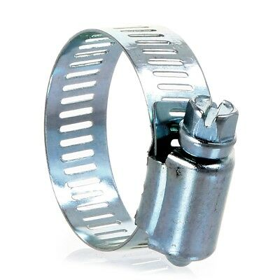 10x PIPE CLIP 20mm-40mm Hose Jubilee Type Clamp Adjustable Tightening Worm Drive