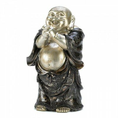 Standing Happy Buddha Figurine Thought to Bring Happiness Collectible Sculpture