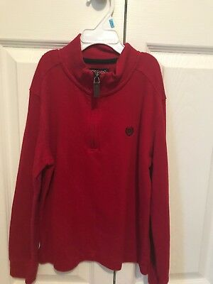 Chaps Red  Pullover Size 7 Christmas Color Boys Pre Owned Nice