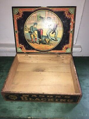 Antique Mason's Shoe Blacking Country Store Advertising Box African American