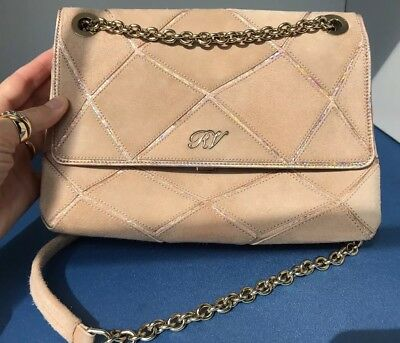 fb90cb800e29 Preowned Roger Vivier Prismick Leather Suede Shoulder Bag Peach Beige  Very  Good
