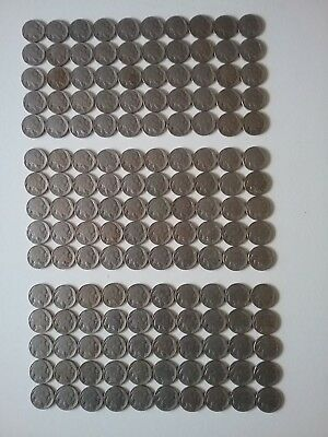 Lot of 150 Buffalo Nickels With Dates
