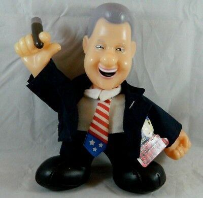 """President Bill Clinton Squeezer Doll With Cigar Slick Willy William Jefferson 8"""""""