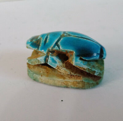 scarab hieroglyph egyptian amulet ancient antique figurine