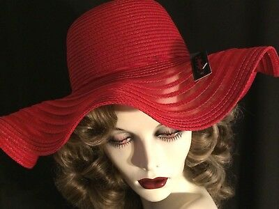 SALE 20% OFF WAVY SILHOUETTE DRESS HAT in RED 68eaf3cc77d