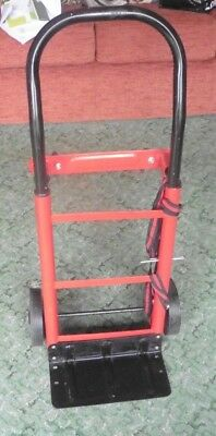Metal Hand Trolley - Portable & Height Adjustable - Unbranded - Red