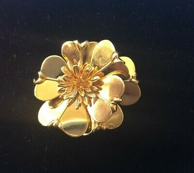 Cartier Vintage Flower Brooch Circa 1960's in 18k Yellow Gold with COA $20k Apr!