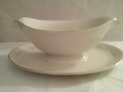 Pickard MINUET Gravy Boat With Attached Underplate