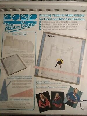 Rare BOND knitting machine Pattern Board