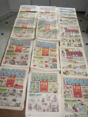 THE TOPPER Comics dated 1973, 1974, 1975, 1976 and 1977 - 70 copies