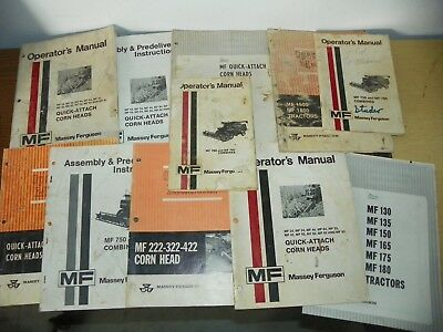 Vintage Lot of 11 Massey Ferguson Operator's Manuals & Assembly Instructions