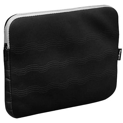 """Protective Water Resistant Lightweight Sleeve Case For 15.6"""" Laptop Gray Black"""