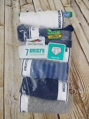 Fruit of the Loom Briefs Boys Large 14-16 7 Pack New but Open Bag Tag Free
