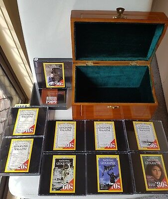 National Geographic Complete CD-ROM Set 1888-1990's In Wood Box - Collector's Ed