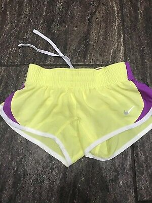 Girl's Nike Dri-Fit  Drawstring Brief Lined Running Athletic Shorts Size XS
