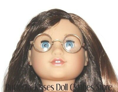 Eyeglasses Gold Rim Clear Lens 18 in Doll Clothes Accessory Fits American Girl