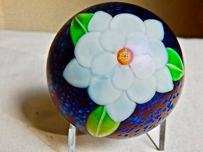 Orient & Flume White Camellia  Paperweight By Sillars