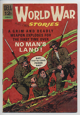 World War Stories #3 Dell WWI Stories 1965 Glanzman Poison Gas Free Shipping WOW
