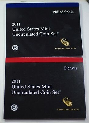 2011 P & D U.S. Mint Set Brilliant Uncirculated BU Coins as Issued