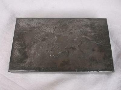 227 / Early 20Th Century Arts & Crafts Pewter Clad Wooden Box With Ivy Design
