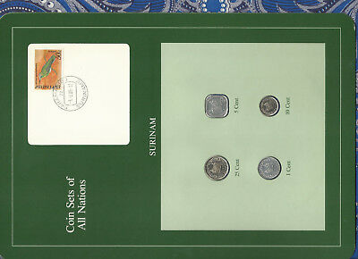 Coin Sets of All Nations Surinam Suriname UNC 1, 5 cents 1982 10, 25 cents 1985