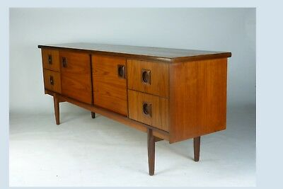 British mid-century teak sideboard by Bath Cabinet Makers retro vintage 60s