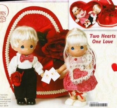 Precious Moments 7 Inch Doll, 'Two Hearts One Love', New in Gift Box, 2127