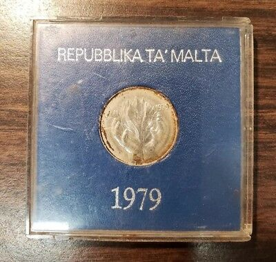 1979 Malta One £1 Pound Departure Of Foreign Forces Silver Coin