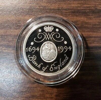 1994 United Kingdom 2 Pound Silver Proof Piedfort Coin With C.O.A. & Box