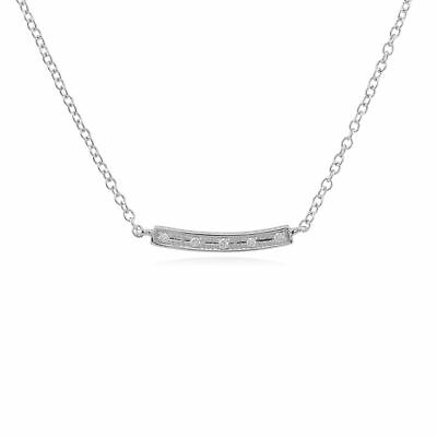 Gemondo 9 Ct or Blanc 2pt Diamant 45cm Collier