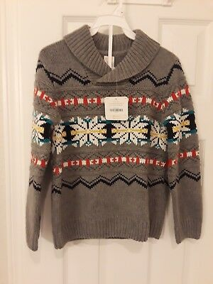 NWT Gymboree Boys Fairisle Holiday Sweater Size 5/6 - Runs Big