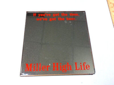 Miller High Life beer sign mirror vintage old reverse style glass antique rare